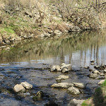 Trout stream oasis along the Cedar Valley Trail in the heart of the city.