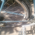 Dirty drivetrain. Dirt, grime and oil all over the place.